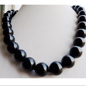 """Natural Black ONYX 10mm 18"""" Necklace"""
